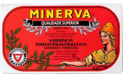 Minerva sardiineja 120g/85g tomaattikastikkeessa