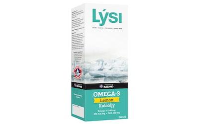 Lysi Omega-3 Lemon 240 ml kalaöljy