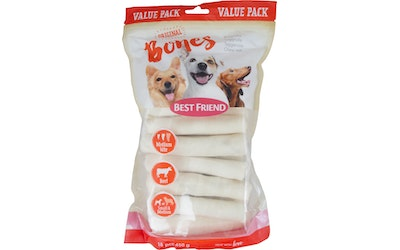 Best Friend Bones Bigbite pururulla valkoinen s-medium 12cm 18kpl value pack
