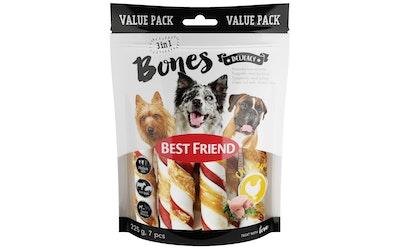Best Friend Bones 3in1 kierrerulla kanafileellä S/M 7kpl 225g
