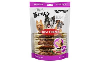 Best Friend bones herkkuluut 550g 50kpl kana- ja ankkafileellä