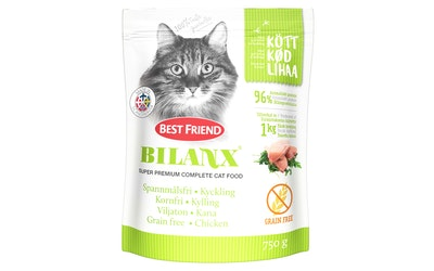 Best Friend Bilanx kissan täysravinto 750g kana viljaton