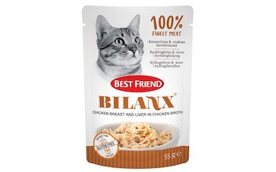 Best Friend Bilanx 55g Kananrintaa ja maksaa kanaliemessä