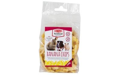 Best Friend festival exclusive banaanisipsit 110g välipala kaneille ja jyrsijöille