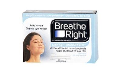 Breathe Right nenäteippi kirkas 30kpl