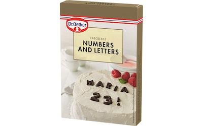 Dr. Oetker Numerot ja kirjaimet 60g