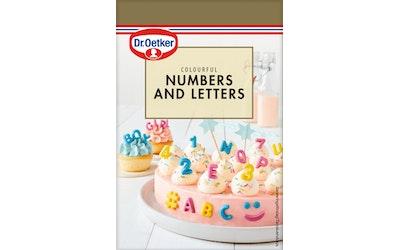 DR.OETKER Värikkäät numerot ja kirjaimet 48g kakun koristeluun.