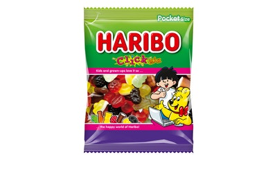 HARIBO Click Mix 80g viinikumi, lakritsi, rae, täytelakritsi ja vaahto