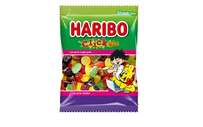 Haribo Click Mix 275g viinikumi lakritsi