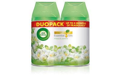 AirWick FM Duopack Freesia&Jasmine täyttö 2x250ml