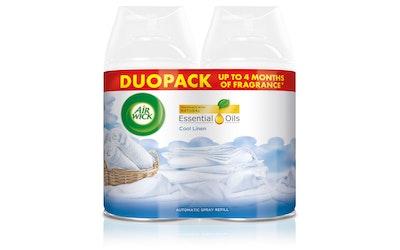 AirWick FM Duopack Cool Linen & Almond Blossom täyttö 2x250ml