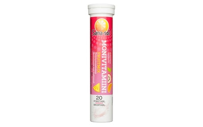 Sana-sol Monivitamiini Fruitmix hedelmänmakuinen 20poretablettia/86g
