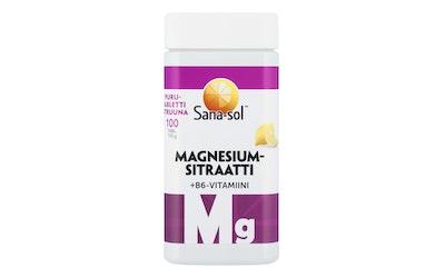 Sana-Sol Magnesium+B6 purutabletit 100tabl 170g