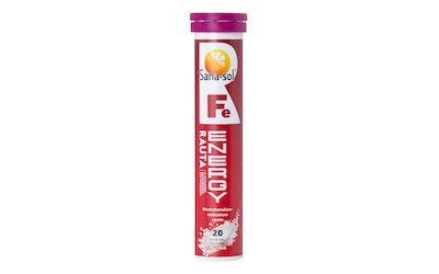 Sana-Sol Fe-Energy rauta mustaherukanmakuinen rauta-vitamiiniporetabletti 20kpl