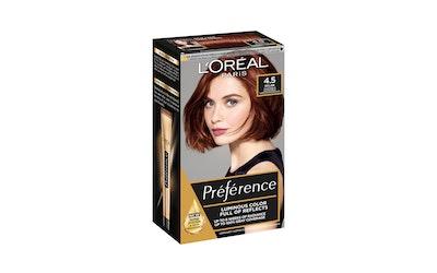 L'Oréal Paris Préférence Infinia 4.5 Riviera Mahogany Brown tumma mahonginruskea kestoväri