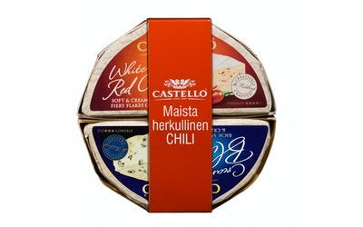 Castello Bundle 2X150g Blue ja White Red Chili homejuusto