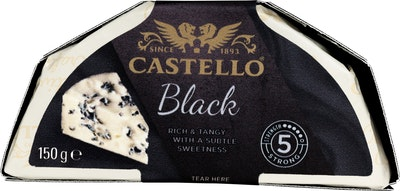 Castello black sinihomejuusto 150g