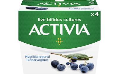 Danone Activia 4x125g mustikkajogurtti