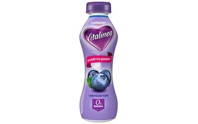 Danone Vitalinea 0% 310g mustikka jogurttijuoma