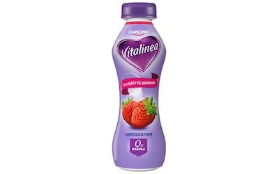 Danone Vitalinea 0% 310g mansikka jogurttijuoma