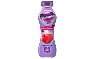 Danone Vitalinea 0% 310g vadelma jogurttijuoma