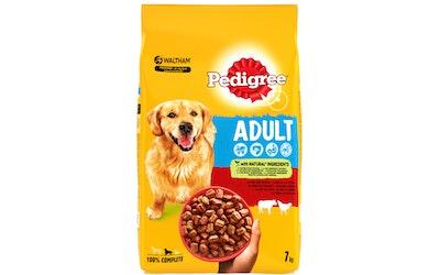 Pedigree Adult koiran kuivaruoka 7kg härkä-siipikarja