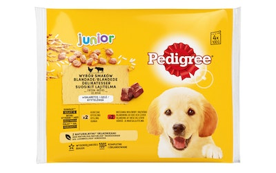 Pedigree Junior annospussi lajitelma 4x100g