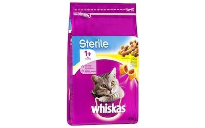 WHISKAS 1+ Sterile Kanaa 950g täysrehua aikuisille kissoille
