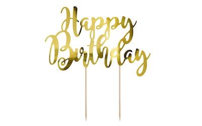 Happy Birthday kulta kakunkoriste 1kpl