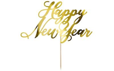 Happy New Year kakunkoriste 24cm kulta