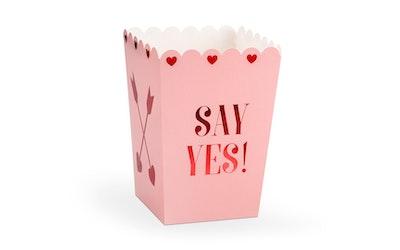 Love 6kpl Popcorn pahvikippo