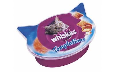Whiskas Temptations lohi 60g makupala