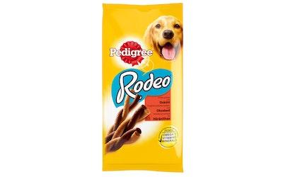 Pedigree 140g Rodeo häränlihaa, täydennysravintoa aikuisille koirille