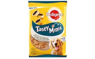 Pedigree Tasty Bites 140g Cheesy Bites sis juustoa ja häränlihaa, täydennysrehua aikuisille koirille