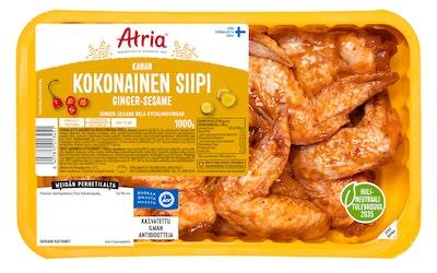 Atria perhetilan kana kokonainen siipi ginger-sesame 1000g