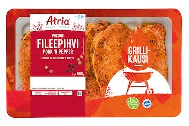 Atria Viljaporsaan Fileepihvi Pork 'n Pepper 600 g