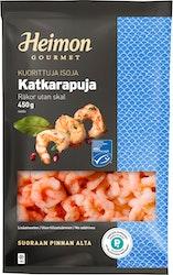Heimon Gourmet kuorittuja isoja keitettyjä katkarapuja MSC 100-200 kpl/lb 450g pakaste