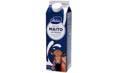 Valio vapaan lehmän kevytmaito 1l