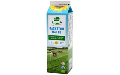 Valio Luomu D-vitaminoitu rasvaton maito 1l