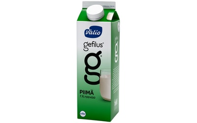 Valio Gefilus piimä 1% rasvaa 1l laktoositon