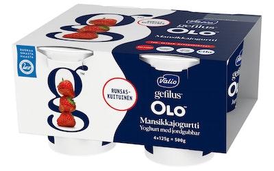 Valio OLO™ jogurtti 4x125 g mansikka laktoositon
