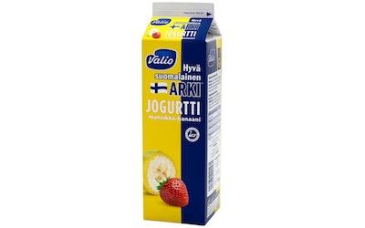 Valio Hyvä suomalainen Arki™ jogurtti 1 kg mansikka-banaani