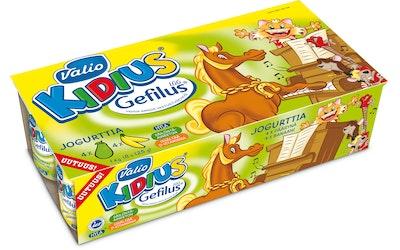 Valio Kidius® Gefilus® jogurtti 8x125 g banaani/päärynä HYLA®