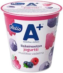 Valio A+™ jogurtti 150 g mustikka-vadelma lisäaineeton laktoositon