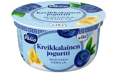 Valio kreikkalainen jogurtti 150g mustikka-vanilja laktoositon