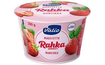 Valio maustettu rahka 200 g makea mansikka laktoositon