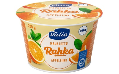 Valio maustettu rahka 200 g appelsiini laktoositon