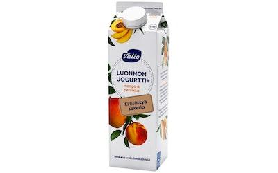 Valio Luonnonjogurtti+ 1kg mango & persikka laktoositon