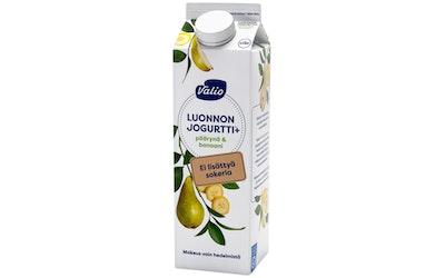 Valio Luonnonjogurtti+ 1kg päärynä&banaani laktoositon