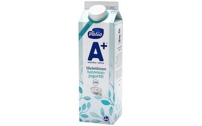Valio A+ luonnonjogurtti 1kg täyteläinen laktoositon